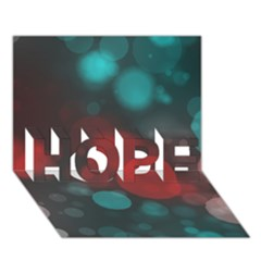 Modern Bokeh 15b Hope 3d Greeting Card (7x5)