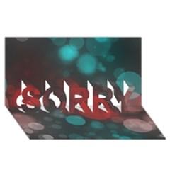 Modern Bokeh 15b SORRY 3D Greeting Card (8x4)