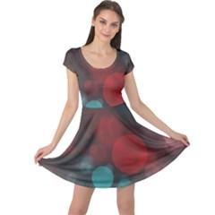 Modern Bokeh 15b Cap Sleeve Dresses