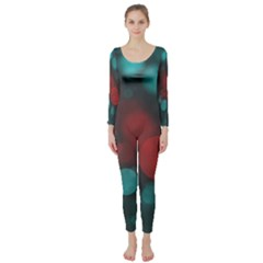 Modern Bokeh 15b Long Sleeve Catsuit