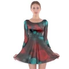 Modern Bokeh 15b Long Sleeve Skater Dress
