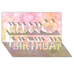 Softly Lights, Bokeh Happy Birthday 3d Greeting Card (8x4)