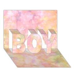 Softly Lights, Bokeh Boy 3d Greeting Card (7x5)