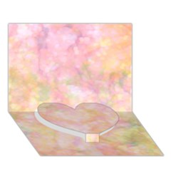 Softly Lights, Bokeh Heart Bottom 3D Greeting Card (7x5)
