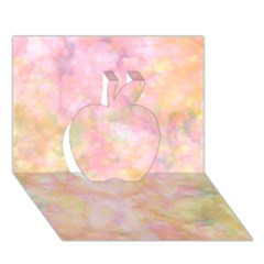 Softly Lights, Bokeh Apple 3D Greeting Card (7x5)