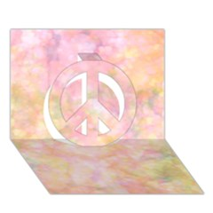 Softly Lights, Bokeh Peace Sign 3D Greeting Card (7x5)