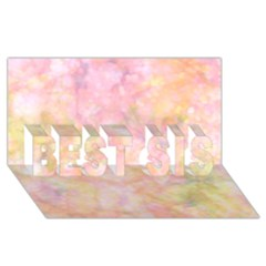Softly Lights, Bokeh Best Sis 3d Greeting Card (8x4)