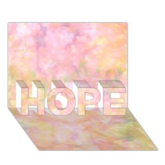 Softly Lights, Bokeh Hope 3d Greeting Card (7x5)