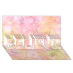 Softly Lights, Bokeh Believe 3d Greeting Card (8x4)