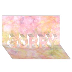 Softly Lights, Bokeh Sorry 3d Greeting Card (8x4)