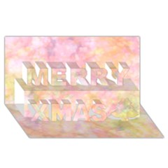 Softly Lights, Bokeh Merry Xmas 3D Greeting Card (8x4)