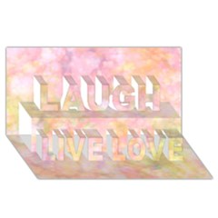 Softly Lights, Bokeh Laugh Live Love 3d Greeting Card (8x4)