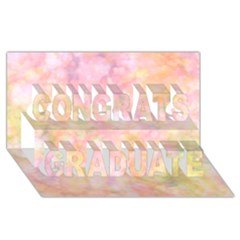 Softly Lights, Bokeh Congrats Graduate 3D Greeting Card (8x4)