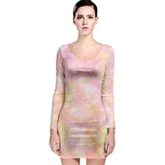 Softly Lights, Bokeh Long Sleeve Bodycon Dresses