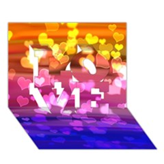 Lovely Hearts, Bokeh Love 3d Greeting Card (7x5)