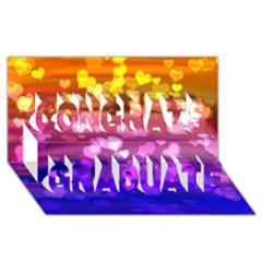 Lovely Hearts, Bokeh Congrats Graduate 3D Greeting Card (8x4)