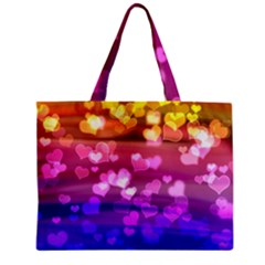 Lovely Hearts, Bokeh Tiny Tote Bags
