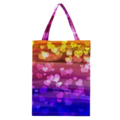Lovely Hearts, Bokeh Classic Tote Bags