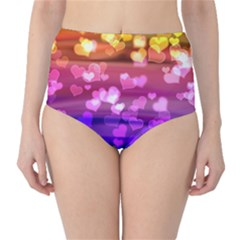 Lovely Hearts, Bokeh High-Waist Bikini Bottoms