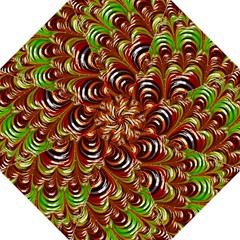 Special Fractal 31 Green,brown Straight Umbrellas