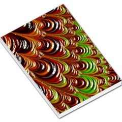 Special Fractal 31 Green,brown Large Memo Pads