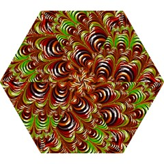 Special Fractal 31 Green,brown Mini Folding Umbrellas