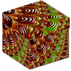 Special Fractal 31 Green,brown Storage Stool 12