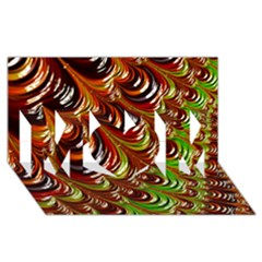 Special Fractal 31 Green,brown Mom 3d Greeting Card (8x4)