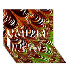 Special Fractal 31 Green,brown YOU ARE INVITED 3D Greeting Card (7x5)