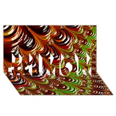 Special Fractal 31 Green,brown #1 Mom 3d Greeting Cards (8x4)