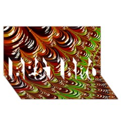 Special Fractal 31 Green,brown BEST BRO 3D Greeting Card (8x4)