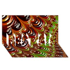 Special Fractal 31 Green,brown Best Sis 3d Greeting Card (8x4)