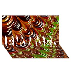 Special Fractal 31 Green,brown Engaged 3d Greeting Card (8x4)