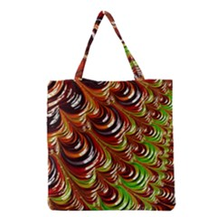 Special Fractal 31 Green,brown Grocery Tote Bags