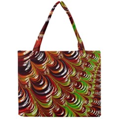 Special Fractal 31 Green,brown Tiny Tote Bags