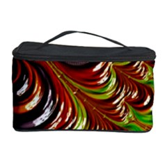 Special Fractal 31 Green,brown Cosmetic Storage Cases