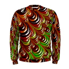 Special Fractal 31 Green,brown Men s Sweatshirts