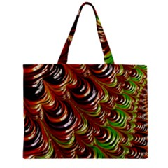 Special Fractal 31 Green,brown Zipper Tiny Tote Bags