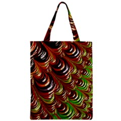 Special Fractal 31 Green,brown Zipper Classic Tote Bags