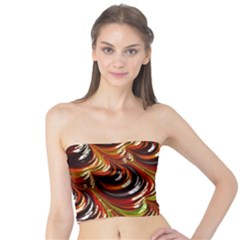 Special Fractal 31 Green,brown Women s Tube Tops