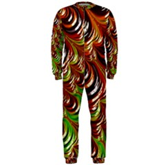 Special Fractal 31 Green,brown OnePiece Jumpsuit (Men)