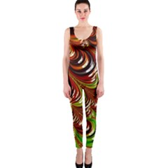 Special Fractal 31 Green,brown OnePiece Catsuits