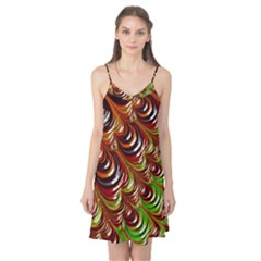 Special Fractal 31 Green,brown Camis Nightgown