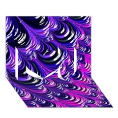 Special Fractal 31pink,purple I Love You 3d Greeting Card (7x5)