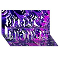 Special Fractal 31pink,purple Happy Birthday 3d Greeting Card (8x4)