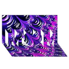 Special Fractal 31pink,purple MOM 3D Greeting Card (8x4)