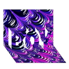 Special Fractal 31pink,purple Boy 3d Greeting Card (7x5)
