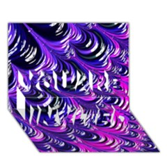 Special Fractal 31pink,purple YOU ARE INVITED 3D Greeting Card (7x5)