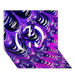 Special Fractal 31pink,purple Peace Sign 3D Greeting Card (7x5)