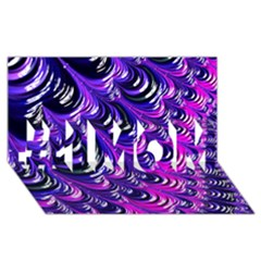 Special Fractal 31pink,purple #1 MOM 3D Greeting Cards (8x4)